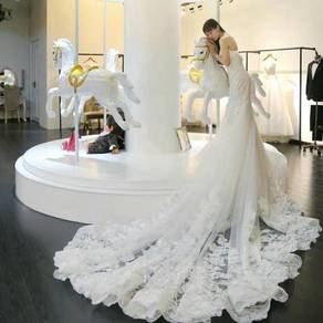Wedding bridal white dinner dress gown RB0237