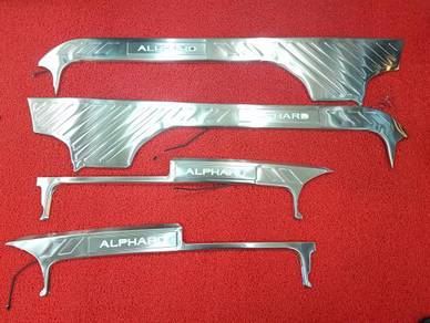 Alphard 30 led welcome plate side door sill plate