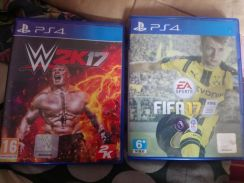 Wwe 2k17 and fifa 17 ps4