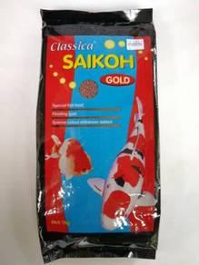Classica Saikoh Fish Feed 1kg Medium Makanan Ikan