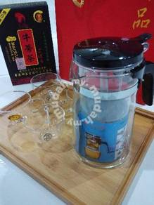 5 in 1 glass teapot set