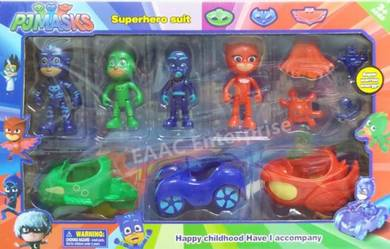 PJ Masks Characters Super Hero Suit with Cars