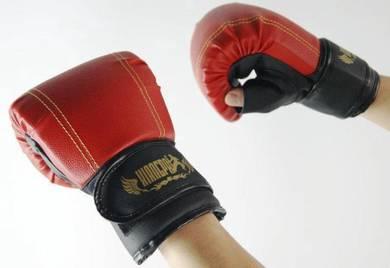Grain PU Training sandbag Thai boxing gloves