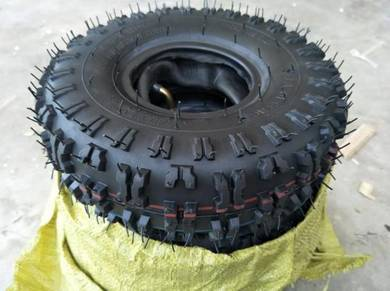 Rubber tyre 4.10-4 with inner tube for off road