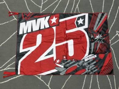 Bendera Maverick Vinales 25 Yamaha Motogp