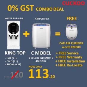 COMBO SET CUCKOO Water + Air Purifier - Sg Lada