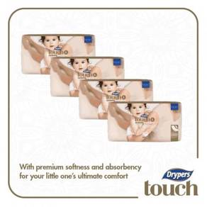 4 x Drypers Touch Jumbo Pack L34