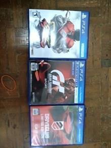 Street Fighter V - Driveclub - Gran Turismo Sport