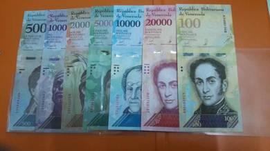 Venezuela set 500 - 100000 Bolivares