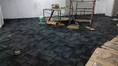 PASANG KARPET PEJABAT l tile carpet
