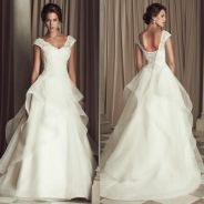 White ruffle wedding bridal dress gown RB1102