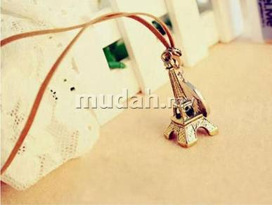 ABPB-B004 Bronze Eiffel Tower leather Necklace FS