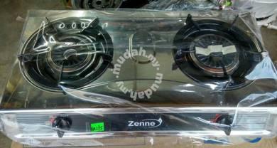 ZENNE Double Burner Gas Cooker (KGS301A)