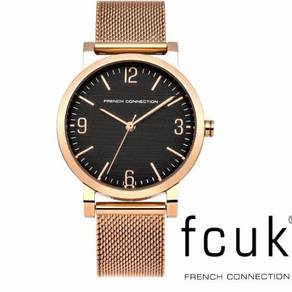 French Connection Women's Quartz Watch Rose Gold S