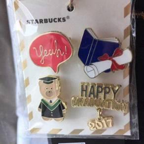 Starbucks 2017 Graduation Bearista Pin Set