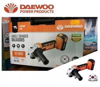 Daewoo 18V Lithium 115mm Cordless Angle Grinder