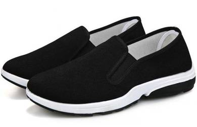 M0269 Black Breathable Wear Slip On Sneakers Shoes
