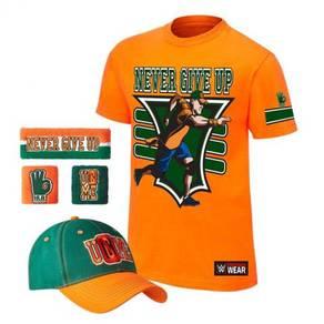 WWE WWF T Shirt Baju John Cena orange westling