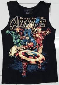 Marvel heroes assemble Avengers sleeveless shirt