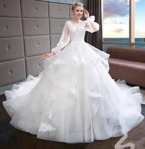 White wedding bridal prom dress gown RB0614