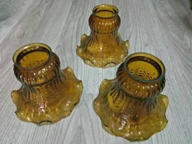Glass lampu siling antik