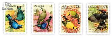 Mint Stamp Tropical Birds Malaysia 2002