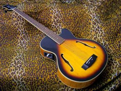 Samick HFB590 Acoustic Electric Bass Guitar