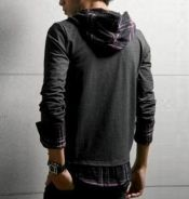 J5048 Stylo [2-IN-1] Hooded Casual Cardigan Shirt