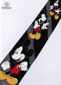 Mickey Mouse Disney 3 Pose Handsome BLACK Neck Tie
