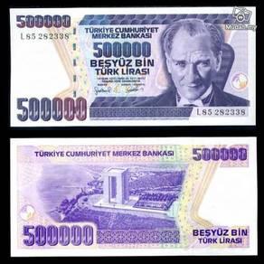 Turkey 500000 lirasi lira 1998 unc