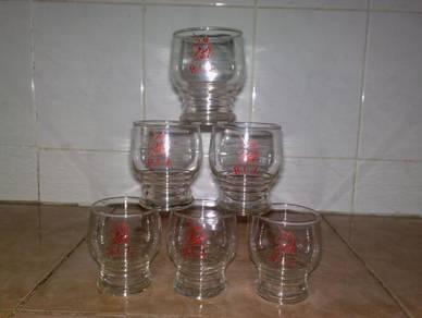 Cawan mini B.C.L. footed glass cup 6