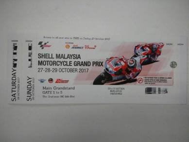Sepang 2017 Main Grandstand 3 Days Pass
