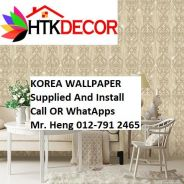 Wall paper Install at Living Space 7R55W