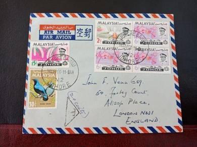 Cover TAXED Johore 1966 No 3338