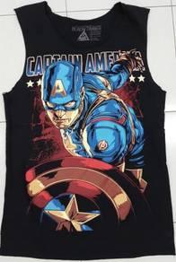 Captain America Gym sleeveless baju fitness gym