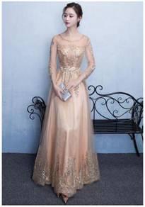 Muslimah Gold Wedding bridal prom dress RBMWD0029