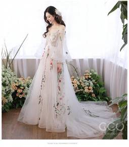Wedding bridal prom party dinner dress gown RB024