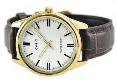Casio Men Analog Leather Watch MTP-V005GL-7AUDF