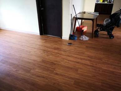Vinyl Floor Lantai Timber Laminate PVC Floor M347