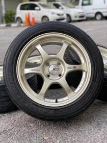 Ssr type c 16 inch sports rim honda city tyre 70%