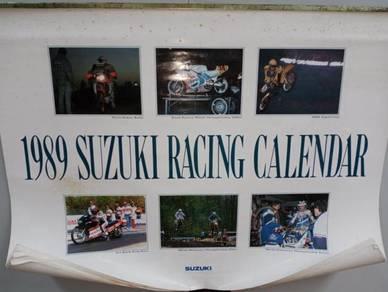 Vintage 1989 calendar suzuki soon huat motor