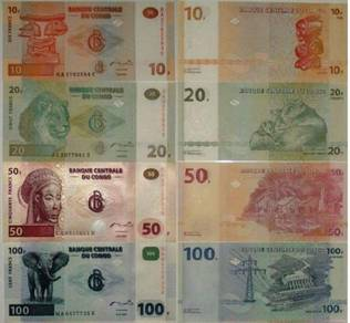 Congo banknotes 4 pcs set all unc