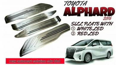 Toyota alphard 2016 sill plate with led