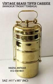 Vintage Brass Tiffin Carrier