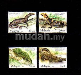 Mint Stamp Rare Reptiles Malaysia 2005