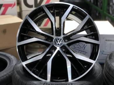19 VW Golf Santiago design rim Jetta Passat Tiguan