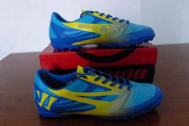 Kasut Futsal WARRIOR size 10us Blue and Yellow
