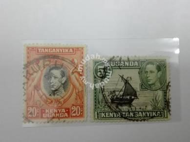 (RB 117) 1938 Kenya-Uganda-Tanganyika KGVI Stamps