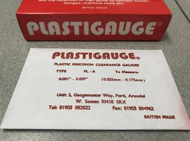 Plastigauge - Measure Engine Bearing Clearance