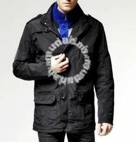 J0767 Black Multi-Pocket Rain Coat Fishing Jacket